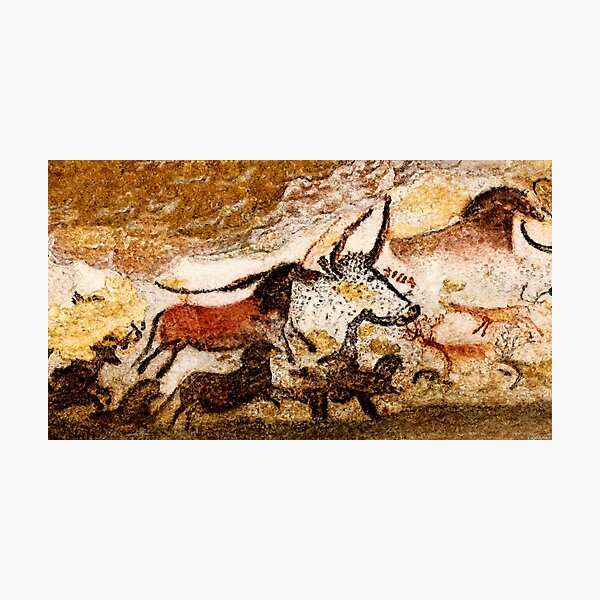 Lascaux Hall of the Bulls - Horses and Aurochs Photographic Print
