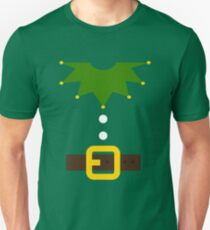 Elf Elf Costume for Carnaval Christmas Halloween Party Slim Fit T-Shirt