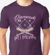 bc9f027a Diamonds Are A Girl's Best Friend Softball - Funny Softball Quote Gift  Unisex T-Shirt
