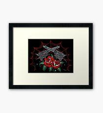 Guns & Roses Framed Print