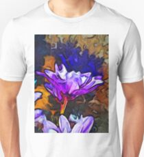 The Lavender Flower with the Blue Smoke Unisex T-Shirt