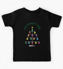 Chemist Tree - Chemistry Scientific Christmas Kids Tee