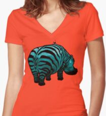 Huh? Women's Fitted V-Neck T-Shirt