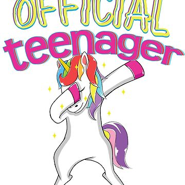 Unicorn Lover Teenager th Birthday Dabbing  Teens by kh123856