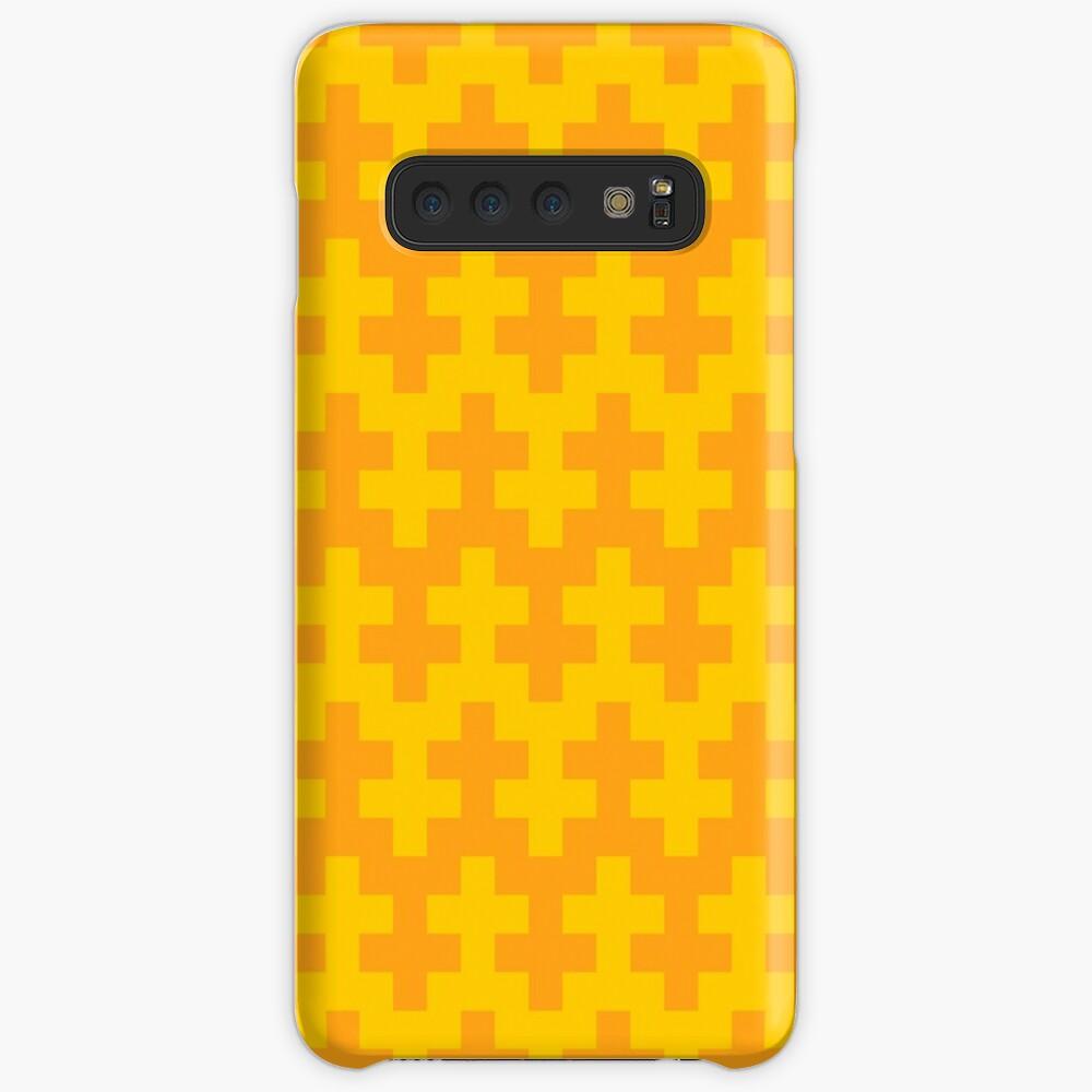 Geometric Pattern: Cross: Yellow Case & Skin for Samsung Galaxy