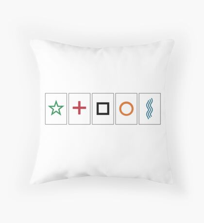 Zener cards: test your own ESP (as given away in magazine partwork The Unexplained) Throw Pillow