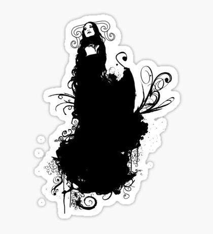 silent Black angel Sticker