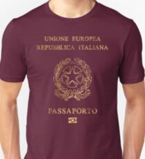 Italian Passport Vintage Unisex T-Shirt