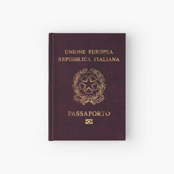 Italian Passport Vintage Hardcover Journal