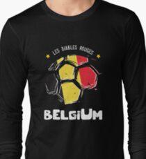 Belgium Team World Cup 2018 Russia Belgique Jersey Long Sleeve T-Shirt 60ddc8e6d