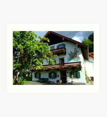 Typical Bavarian House Art Print