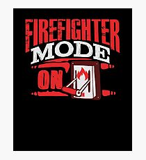 Firefighter Mode On Search Rescue Photographic Print