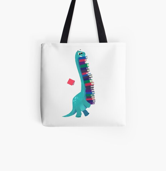 BOOK DINOSAURS 01 All Over Print Tote Bag