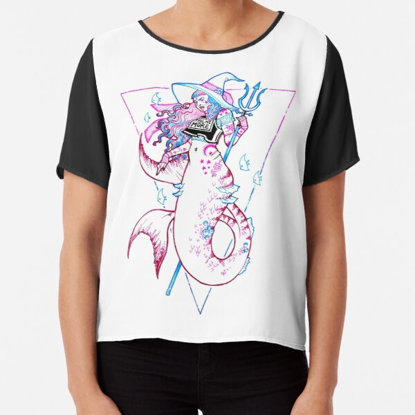 Sea Witch - Trans Mermaid - Tell me More Chiffon Top