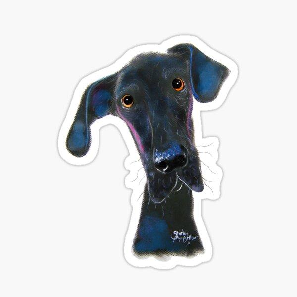 Great Dane DoG PRiNT ' HaRPeR ' BY SHiRLeY MacARTHuR Sticker