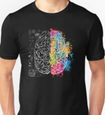 Inspiration Colorful Brain art science Unisex T-Shirt