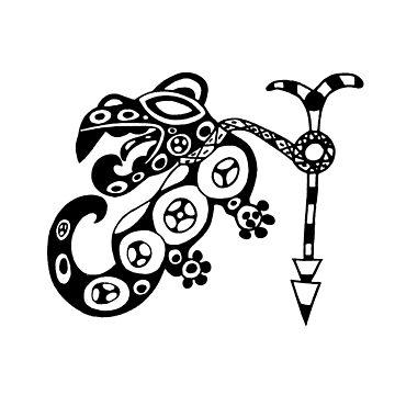 Findigo native anthropomorph - pacaya - tee by Fenixdesign by fenixdesign