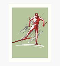 cross-country skiing Art Print
