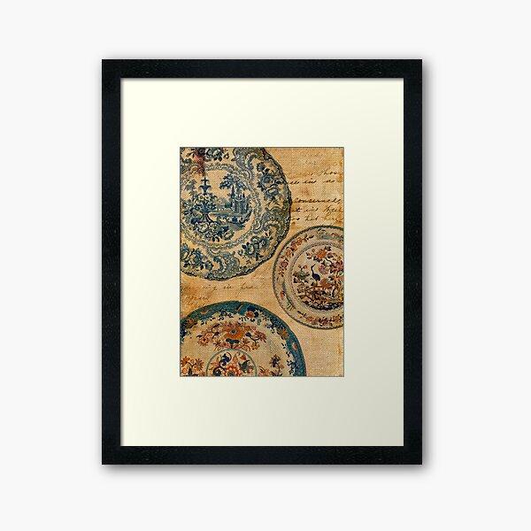 antique plates Framed Art Print