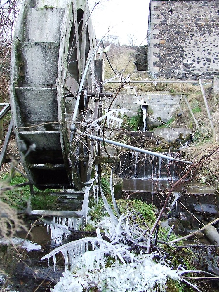 icicles, waterwheel by armadillozenith