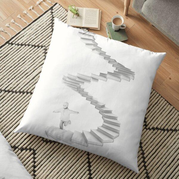 Stairway to Imagination Floor Pillow
