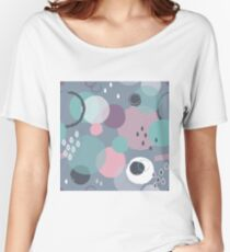 Abstract circle geometric pattern  Women's Relaxed Fit T-Shirt