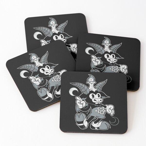 Do Walt Thou Wilt - Baphomet - Creepy Cute Occult Coasters (Set of 4)