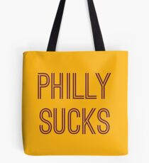 Philly Sucks - Gold/Burgundy Tote Bag