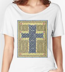Celtic Cross and Roses Women's Relaxed Fit T-Shirt