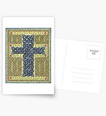 Celtic Cross and Roses Postcards