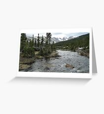 Tranquil river backdrop Greeting Card