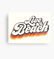 Love & Beach Metal Print