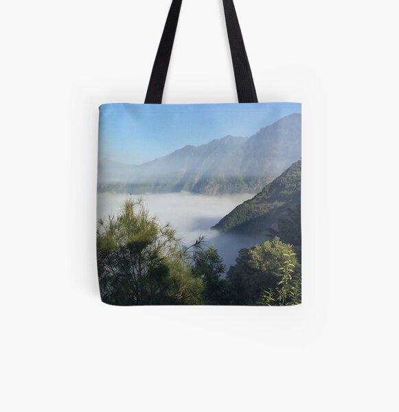 Green Mountain Mist  All Over Print Tote Bag
