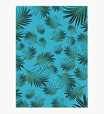 Tropical Palms Pattern #2 #tropical #decor #art  Photographic Print