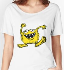 Cute Cartoon Yellow Monster by Cheerful Madness!! Women's Relaxed Fit T-Shirt