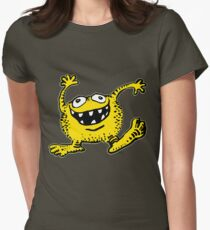 Cute Cartoon Yellow Monster by Cheerful Madness!! Women's Fitted T-Shirt