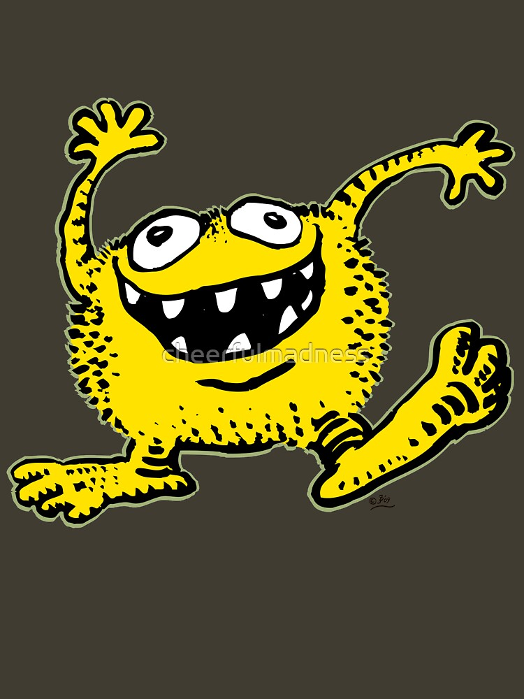 Cute Cartoon Yellow Monster by Cheerful Madness!! | Unisex T-Shirt