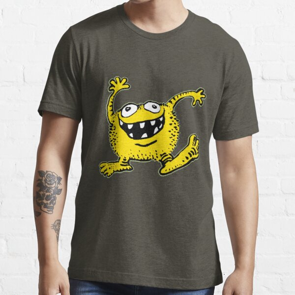 Cute Cartoon Yellow Monster by Cheerful Madness!! Essential T-Shirt