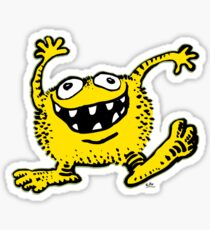 Cute Cartoon Yellow Monster by Cheerful Madness!! Sticker