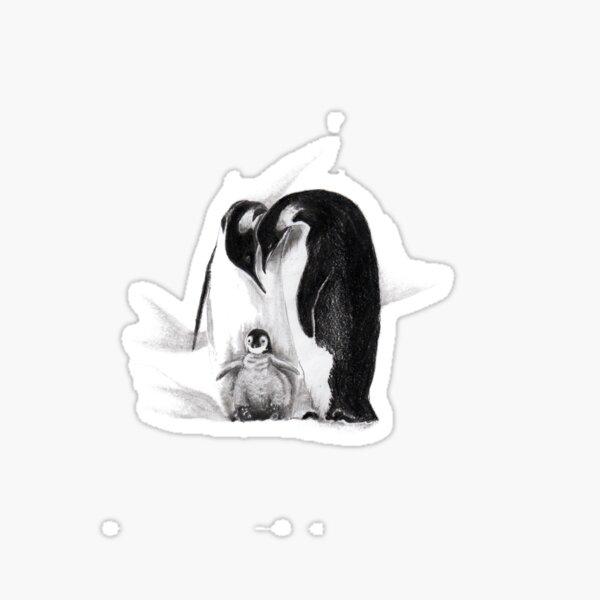 Emperor penguin family Sticker