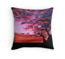 Sunset Boab Throw Pillow