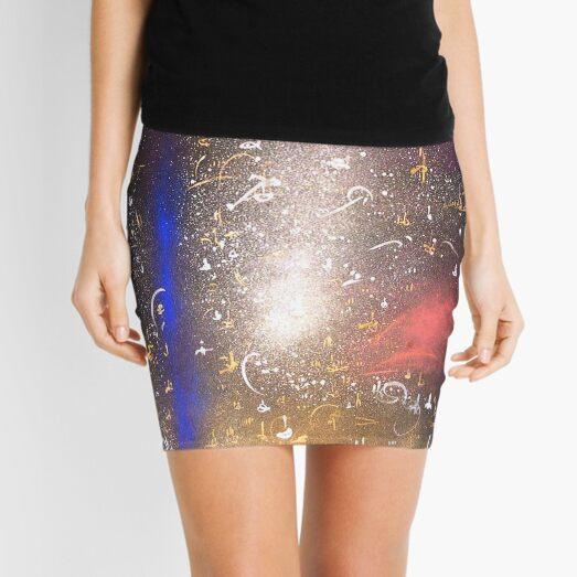 blue flash night sky Mini Skirt