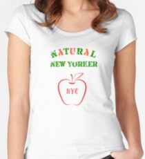 Natural New Yorker Women's Fitted Scoop T-Shirt