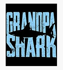 Grandpa Shark Funny Gift Photographic Print