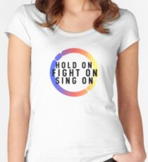 Detroit Become Human: Hold on. Women's Fitted Scoop T-Shirt