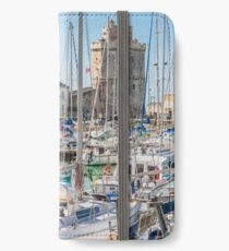 Yachts in the old port of La Rochelle  iPhone Wallet/Case/Skin