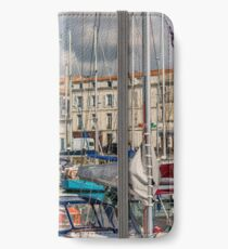 View of yachts in the old port, La Rochelle France iPhone Wallet/Case/Skin