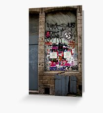 Lille graffiti Greeting Card