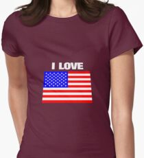 I love USA Women's Fitted T-Shirt