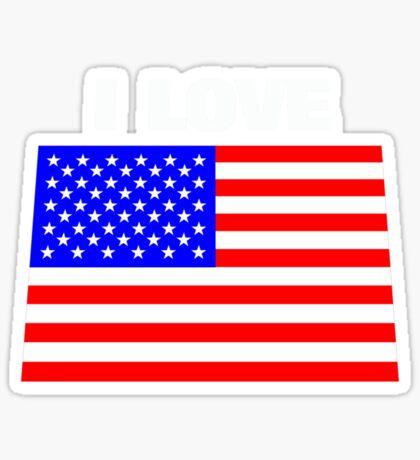 I love USA Sticker